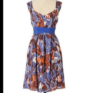 MAEVE Anthropologie Silk Dress